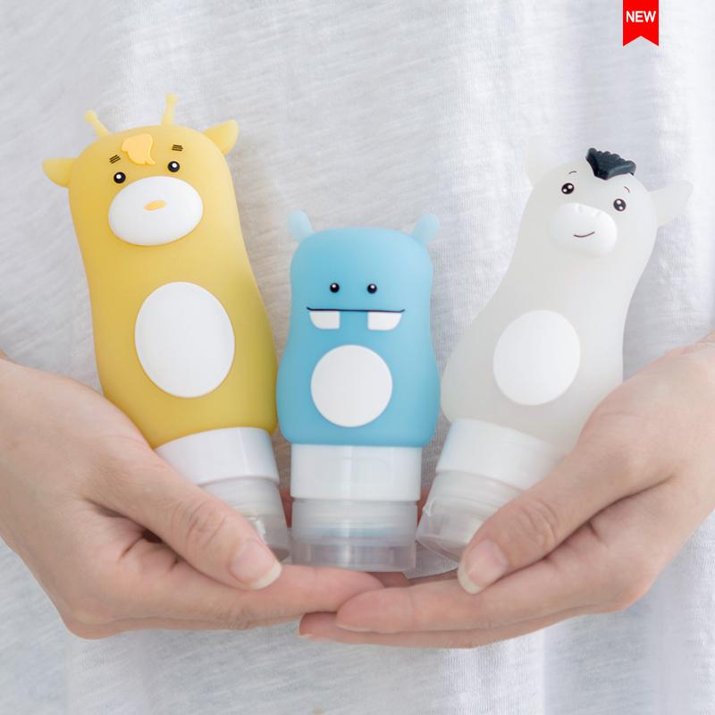 Buy Silicone portable travel wash bag storage bottle sample bottle Singapore