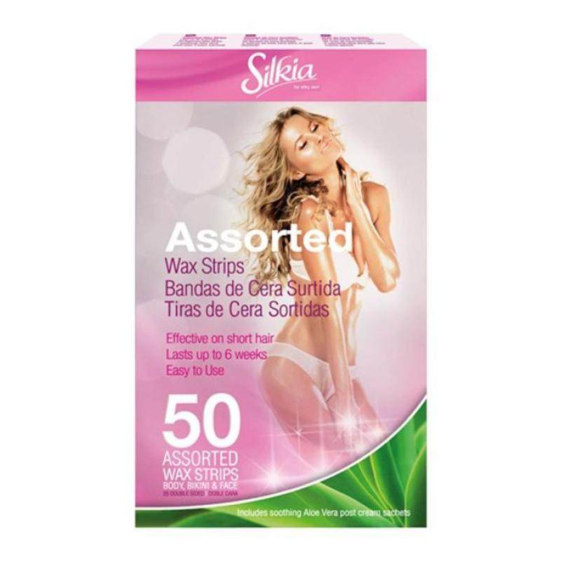 Buy Silkia Assorted Wax Strips 50 in a pack Singapore