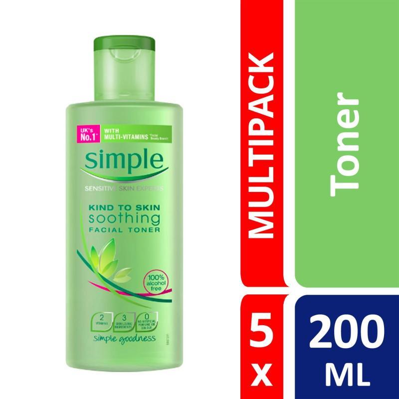 Buy Simple Soothing Toner 200ml X 5 Singapore