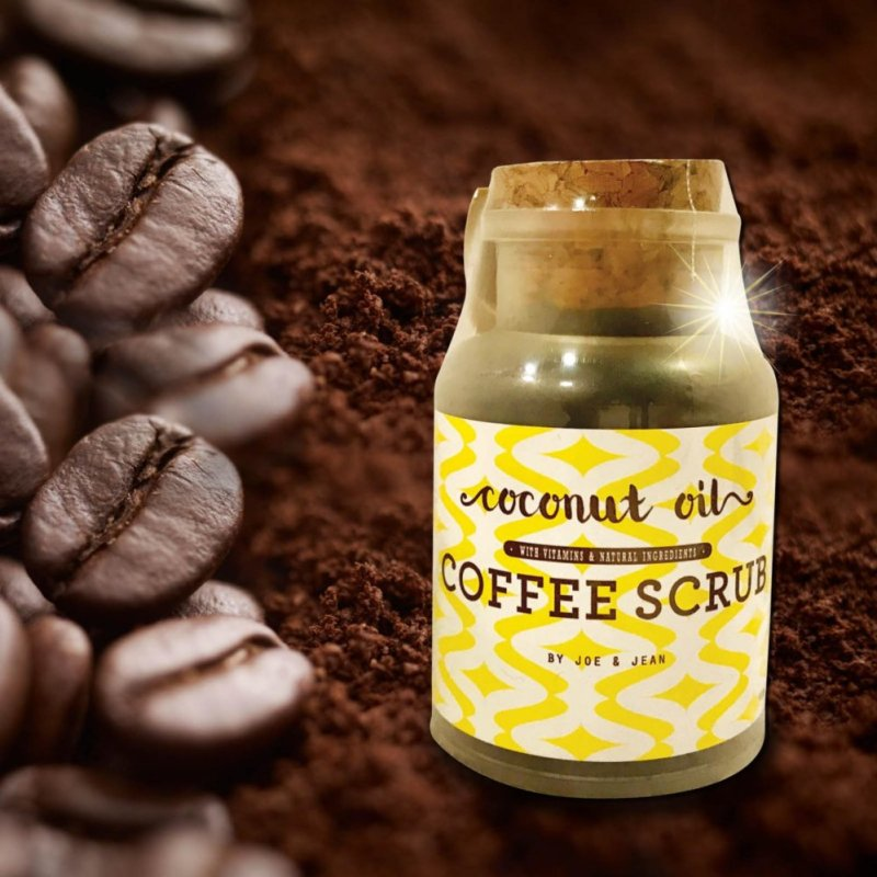 Buy Sinma Joe & Jean 100g Bottle Coconut Oil Face & Body Cleansing Natural Coffee Scrub with Vitamins (FREE WOODEN SPOON) Singapore