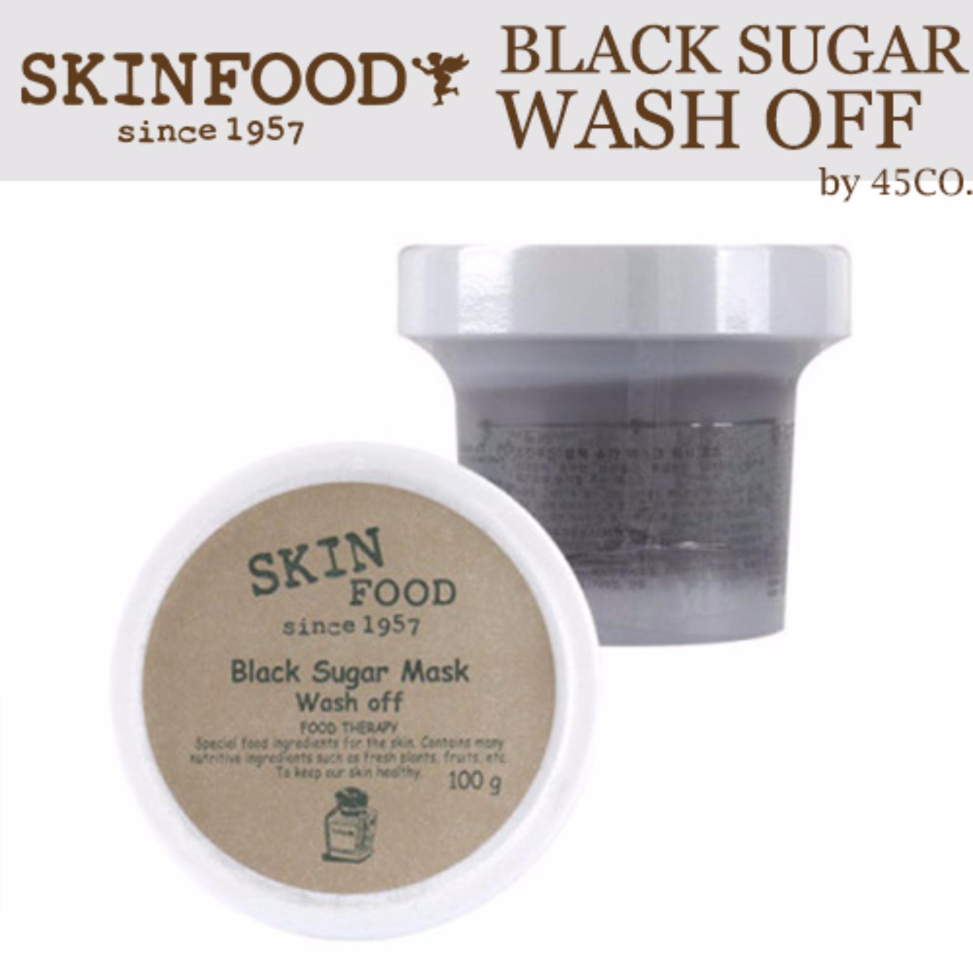 Buy Skinfood Black Sugar Mask Wash Off 100g Intl Singapore Skin Food Honey 100gr