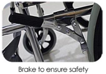 Standard Foldable Regular Chrome Wheelchair With Brakes AdjustableFoot Rest - 4