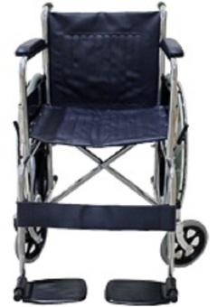 Standard Foldable Regular Chrome Wheelchair With Brakes AdjustableFoot Rest - 5