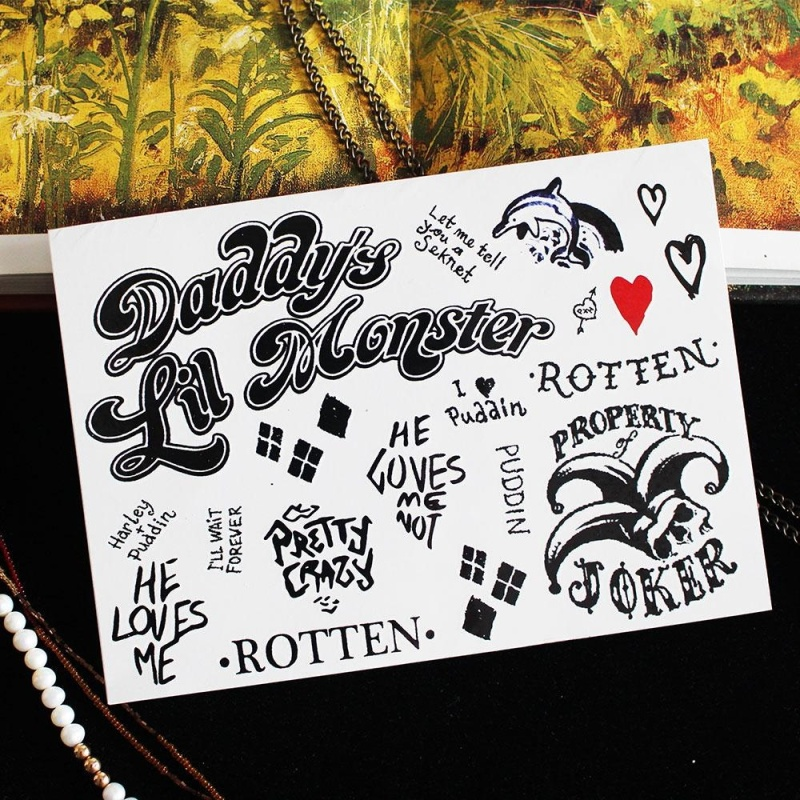 Buy Suicide Squad Joker Harley Full Body Temporary Tattoo Spray Stickers Waterproof Singapore