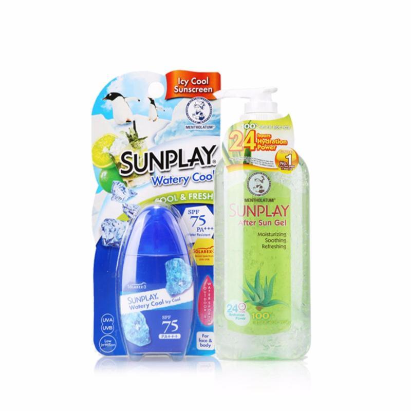 Buy Sunplay Super Block Lotion SPF 130 35g + After Sun Gel Natural Aloe Vera 200g Singapore