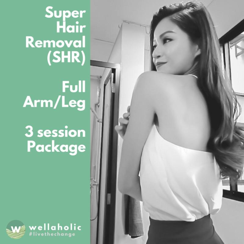 Buy Super Hair Removal (Full Arm/Leg) - 3 Session Package Singapore