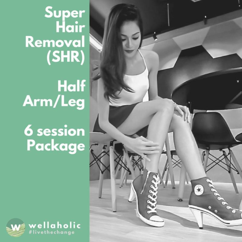 Buy Super Hair Removal (Half Arm/Leg) 6 Sessions Singapore