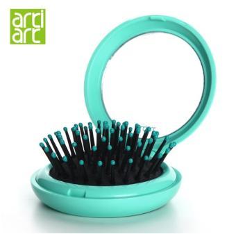 Taiwan artiart comb airbag massage comb folding mirror comb portable small mirror portable Travel Air Cushion comb - 2