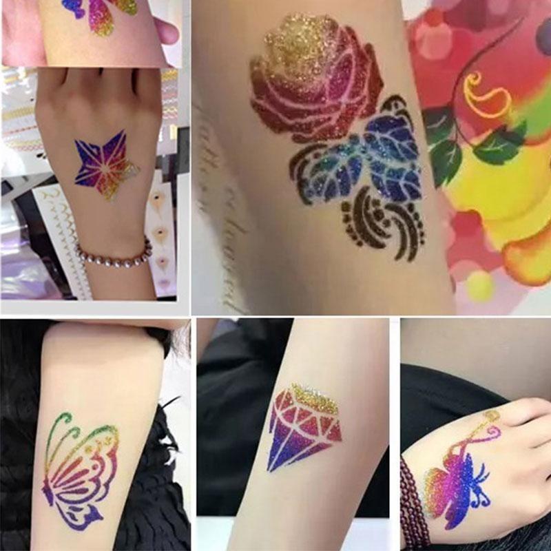 Buy Tattoo Kit Sparkling 24 Colors Cosmetic Shimmer Glitter Powder Body Art Makeup - intl Singapore
