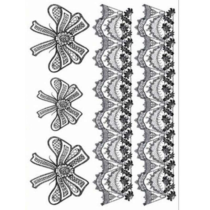 Buy Temporary Tattoo Leg Portion Lace Tattoo Stickers Black - intl Singapore