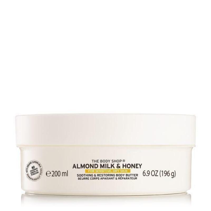 Buy The Body Shop Almond Milk & Honey Soothing & Restoring Body Butter (200ML) Singapore