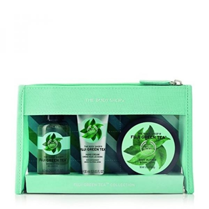 Buy The Body Shop Fuji Green Tea Beauty Bag Gift Set, 3pc Bath and Body Gift Set of Travel Size Fuji Green Tea Body Care - intl Singapore