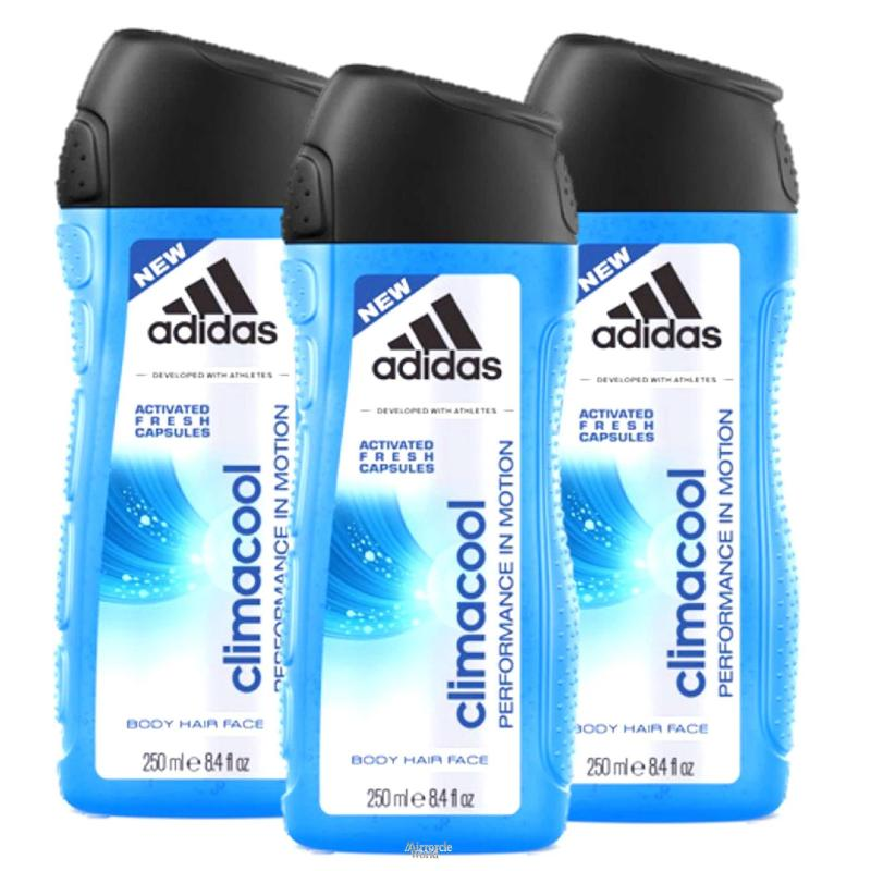 Buy [Triple-Pack] Adidas Shower Gel -  Climacool Shower Gel 250ml 3 in 1 Face, Hair and Body 250ml x 3 Singapore