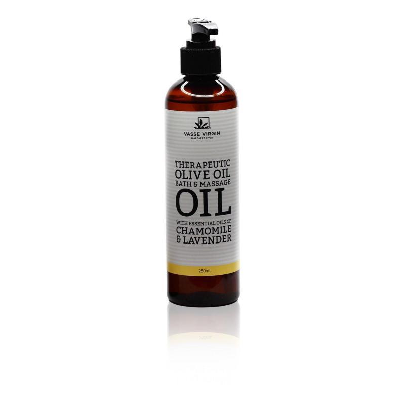 Buy Vasse Virgin Chamomile & Lavender Therapeutic Olive Oil Bath & Massage Oil 250ml Singapore