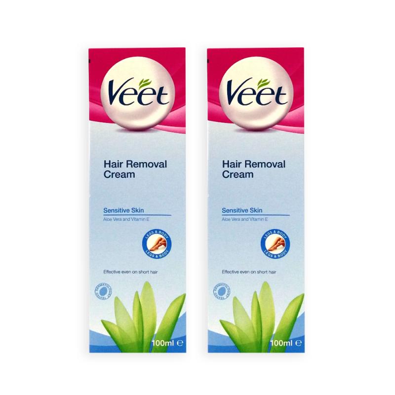 Buy VEET Hair Removal Cream for Sensitive Skin 100ml x 2 Tubes - 2993 Singapore