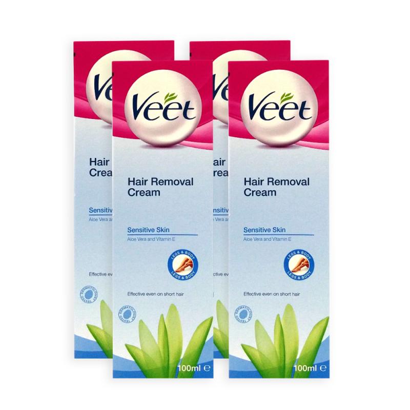 Buy Veet Hair Removal Cream for Sensitive Skin 100ml x 4 Tubes - 2993 Singapore