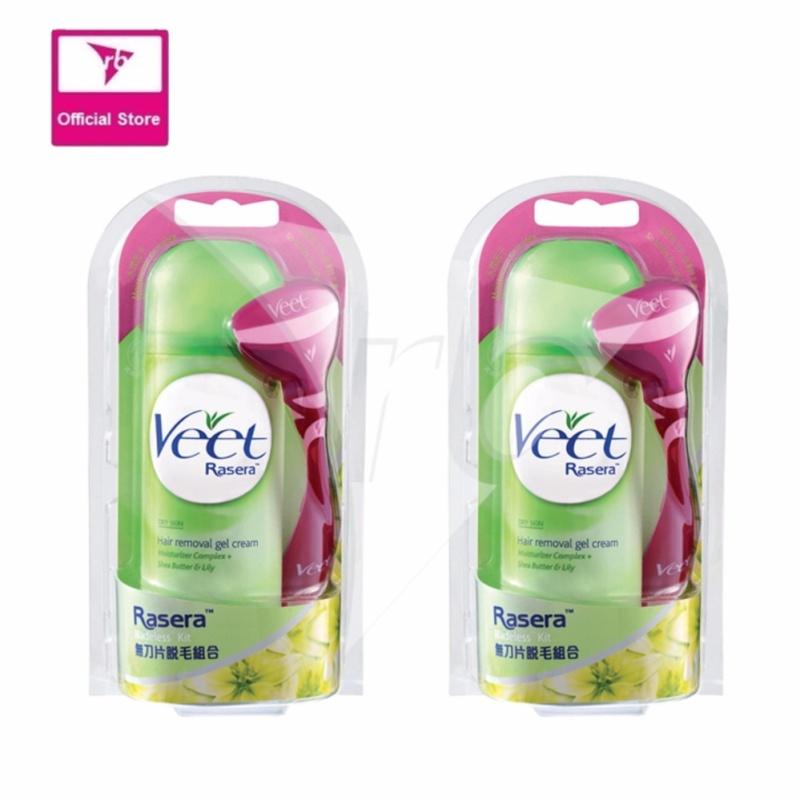 Buy Veet Rasera Hair Removal Gel Cream Dry Skin 150G (Bundle of 2) Singapore