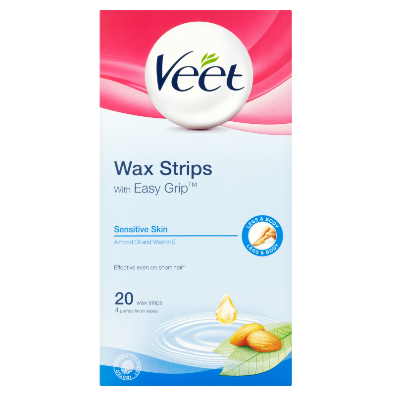 Buy Veet Wax Strip Sensitive 20s Singapore