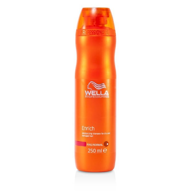 Buy Wella Enrich Moisturizing Shampoo For Dry and Damaged Hair (Fine/Normal) 250ml/8.4oz (EXPORT) Singapore