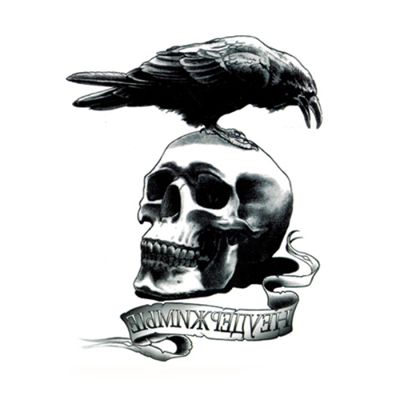 Buy Yika Removable Waterproof Skull Temporary Body Arm Tattoo Stickers (A017) Singapore