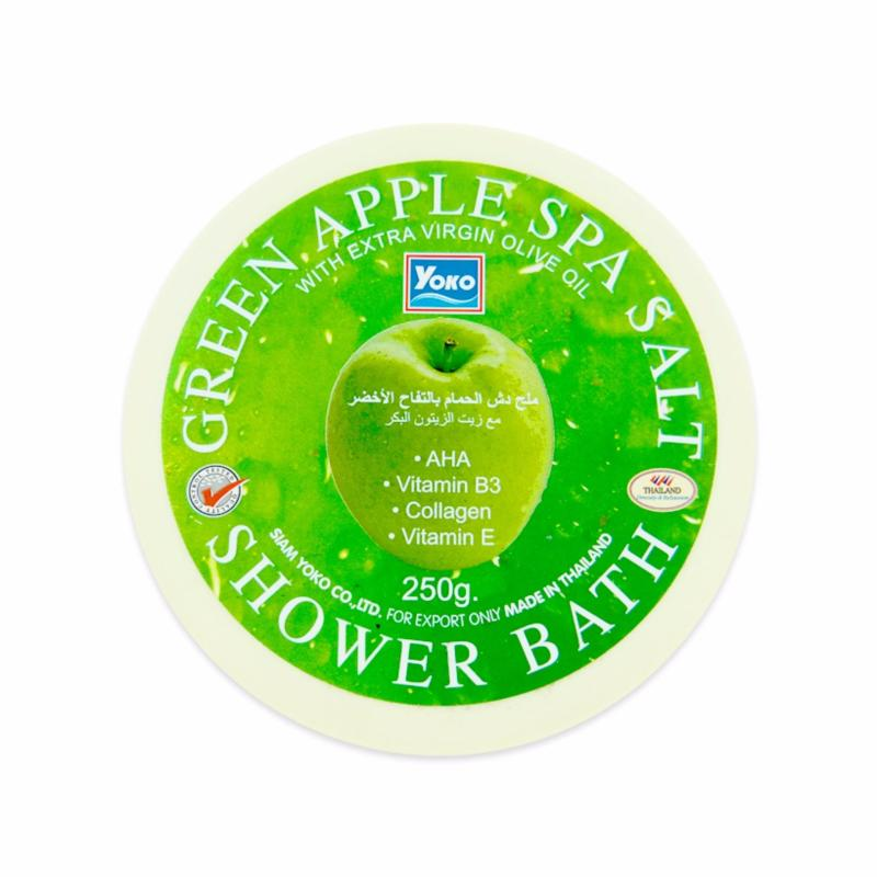 Buy YOKO GREEN APPLE SPA SALT SHOWER BATH 250g Singapore