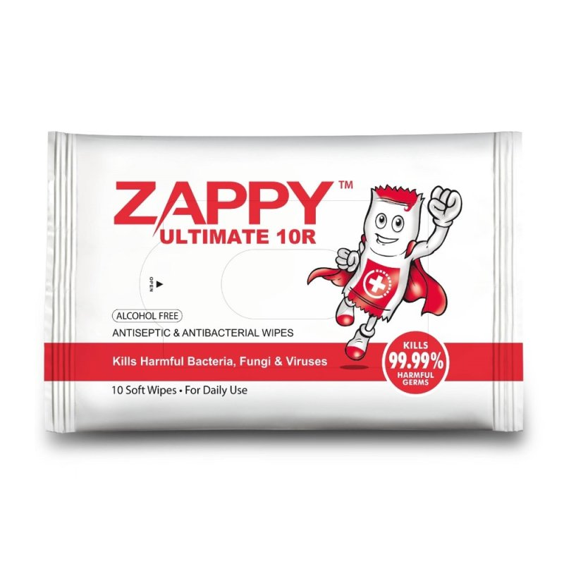 Buy Zappy Ultimate Antiseptic Wet Wipes 10R (48 Packets) Singapore