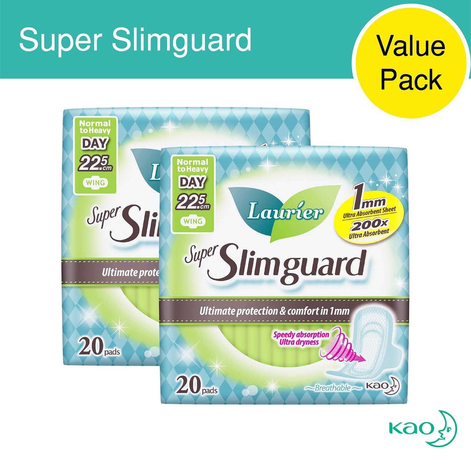 a9413dc968d821 Laurier Super SlimGuard Day Wing Sanitary Pads 22.5cm