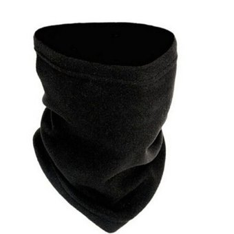 Harga 3-in-1 Winter Fleece Scarf Neck Warmer Face Mask Hat Snood(Export)