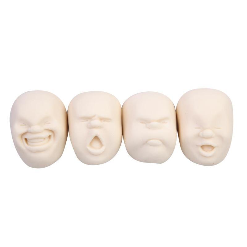 Buy 4pcs Vent Human Face Ball Anti-Stress Balls Japanese Design Cao Maru Biege Singapore