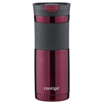 Contigo Snapseal(TM) Byron Stainless Steel Travel Mug 20oz (Red)