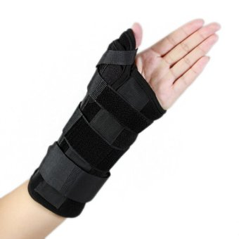 (size M for left hand) New Carpal Tunnel Medical Wrist Support Sprain Forearm Splint Band Strap Protector Wrist Brace Thumb Spica Support Pads - intl