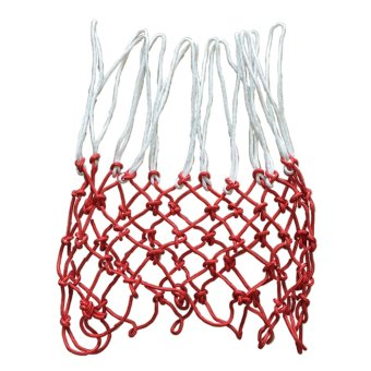 Durable Nylon Basketball Goal Hoop Net Netting Red/White Sports 48CM/ 6MM