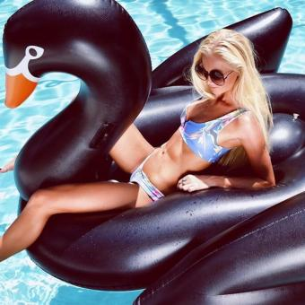 FREE PUMP! 24 HOURS SHIPPING! BLACK SERIES - Black Swan / Flamingo Inflatable Swimming Pool Float / Travel Float / For Kids to Adult - 3