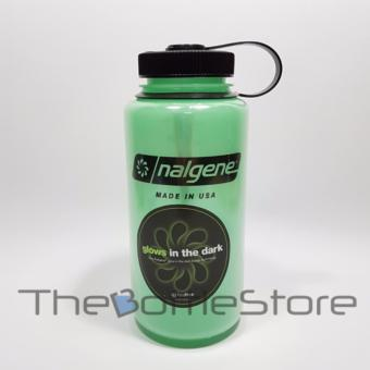 Harga Nalgene Widemouth 1000mL BPA Free Tritan Water Bottle [Green Glow]