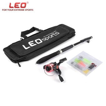 Harga LEO 1.6M Telescopic Fishing Rod Set with Fish Reel Hook Lure Tackle - intl