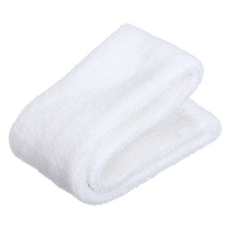 Cashmere Headband Sweatbands Sport Head Wrap for Rugby Tennis Soccer Golf Dancer (White) - 3