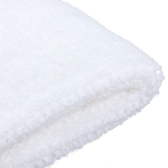 Cashmere Headband Sweatbands Sport Head Wrap for Rugby Tennis Soccer Golf Dancer (White) - 5