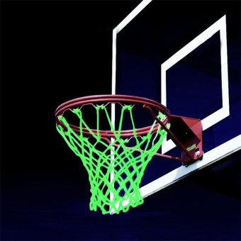 Sports Glowing Light Sun Power Basketball Hoop Net Shooting Traning - intl