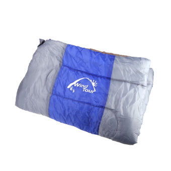 Wind Tour Thermal Adult Sleeping Bag Autumn Winter Envelope Hooded Outdoor Travel Camping Water Resistant Thick 1.3kg Blue - 2