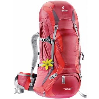 Harga Deuter Futura Vario Hiking Backpack 45+10SL (Cranberry-Fire)