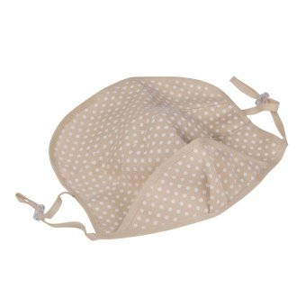 Andux Golf Uv-blocking Sports Wear Cute Dot Mask Protection to the Neck Face KZ-02 (Beige)