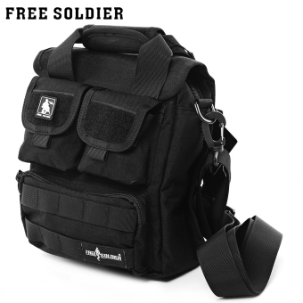 Free Soldier Hiking Camping Outdoor Cordura Single-shoulder Bag (Black)