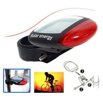 Harga Solar Power Bicycle Rear Tail Light Red - intl