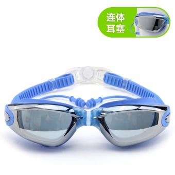 Harga Men Women Professional Waterproof Swimming Glasses - intl