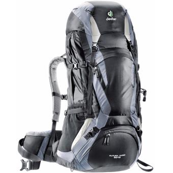 Harga Deuter Futura Vario Hiking Backpack 50+10SL (Black-Titan)