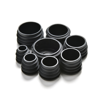 Black Plastic Blanking End Caps Cap Insert Plugs Bung For Round Pipe Tube 22MM - 3