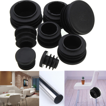 Black Plastic Blanking End Caps Cap Insert Plugs Bung For Round Pipe Tube 22MM - 5