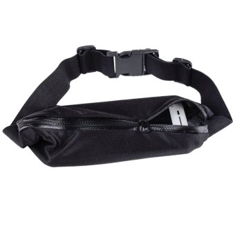 Harga Sports Hip Pack Belly Waist Bum Bags Fitness Running Jogging Cycling Belt Pouch Black - intl