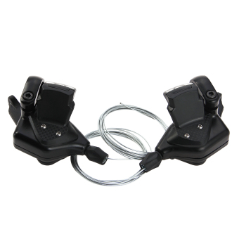Harga WiseBuy TOMOUNT Bike Shifter Levers Set 3 x 8 Speed Pair With Shift Cable Black