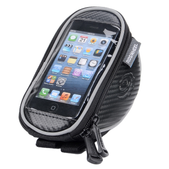 Harga ROSWHEEL 11810S-A Handlebar Mobile Phone Bag w/ Touch Screen Window – Black